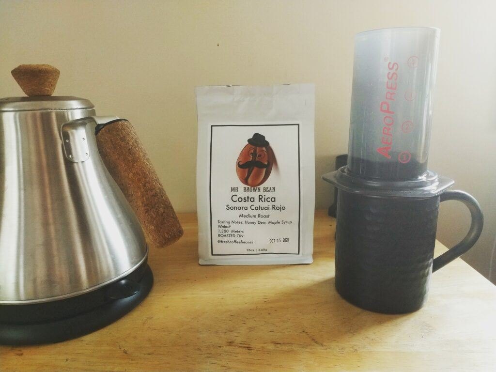 Costa Rica coffee and French Press
