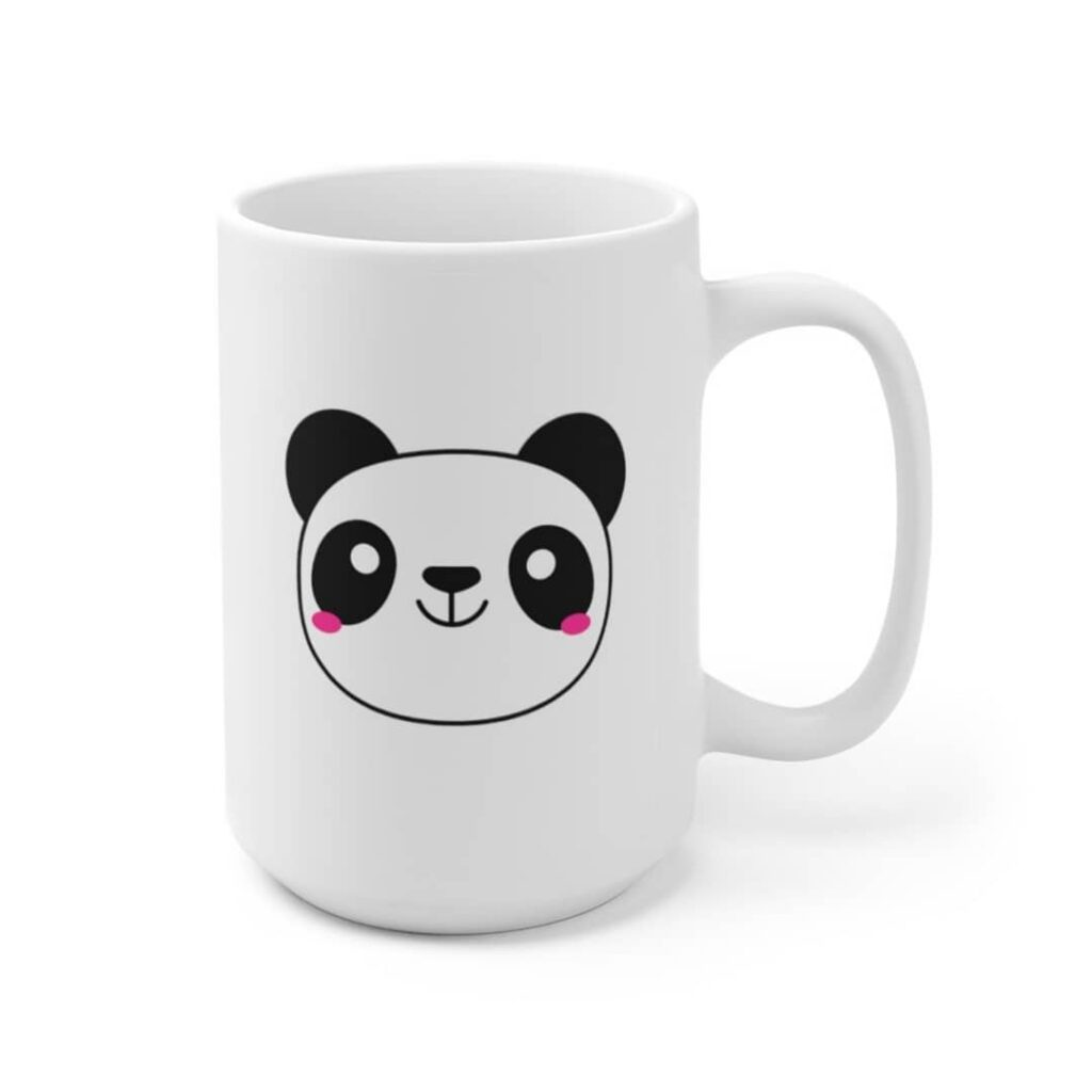 Cute panda coffee mug